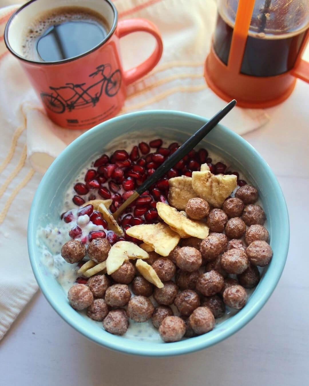 Receta de desayuno con Chocolate de Garbanzo